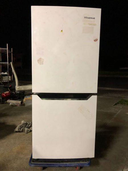 ○G5953 ハイセンス Hisense 2ドア冷凍冷蔵庫 130L 2014年製○ 450x600