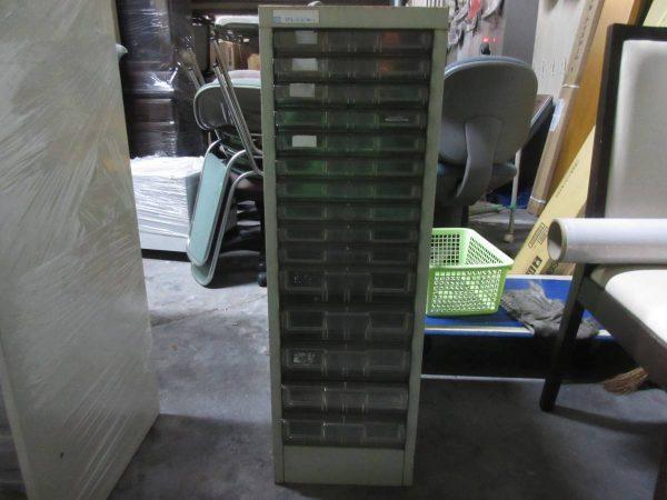 アレンジャー 15マス引き出し書庫 28×40×88 オフィス用品 書類ケース 汚れ サビ 600x450