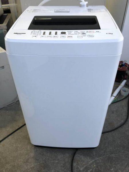ハイセンス Hisense 全自動洗濯機 4.5kg HW E4501 2016年製 450x600