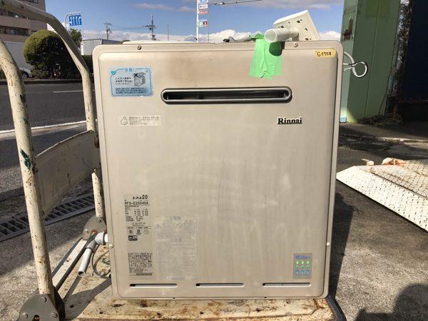 リンナイ ガス給湯器 都市ガス 屋外式 RFS E2004SA ユーアール20 リモコン付き◆中古品 600x450