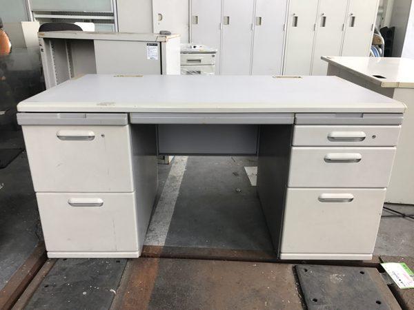 両袖デスク オフィスデスク 事務机 70×140×70 鍵無し 600x450