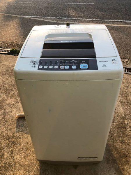 HITACHI 日立 全自動洗濯機 7kg 全自動洗濯機 NW 7TY 2014年製 450x600