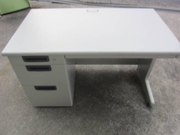 PLUS製 片袖デスク 鍵1個付 机 オフィスデスク 600x450
