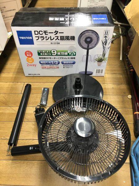 TEKNOS DCモーター ブラシレス 扇風機 KI 531BK 17年製 450x600