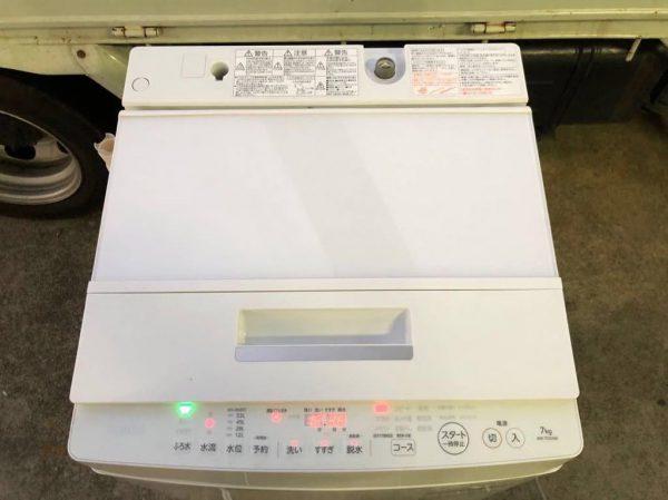 TOSHIBA マジックドラム 全自動洗濯機 7.0kg AW 7D5 2017年製 600x449