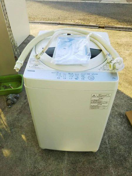 TOSHIBA 東芝 全自動洗濯機 5kg AW 5G6 2018年製 450x600