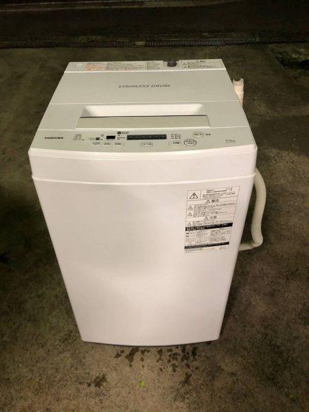 TOSHIBA 東芝 全自動洗濯機 4.5kg AW 45M5 2017年製 450x600