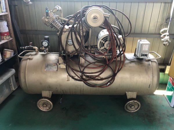 TOSHIBA 東芝 TOSCON 3.7kw 5馬力 大型コンプレッサ ホースセット