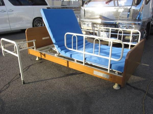 フランスベッド 介護ベッド 電動 マットレス、補助バー付