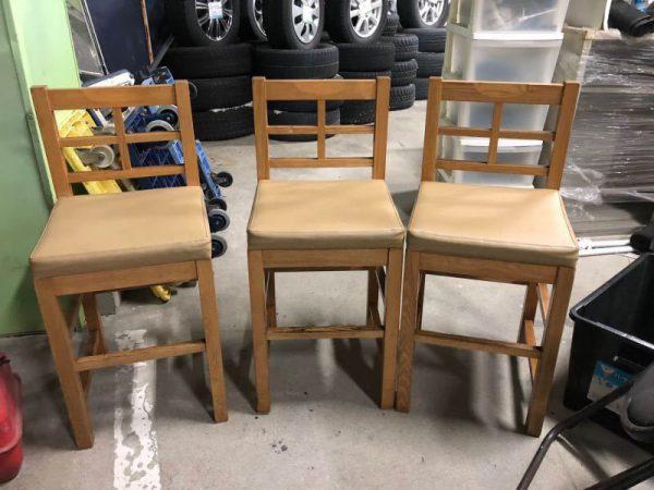 カウンターチェア 椅子 店舗 うどん屋 蕎麦屋 居酒屋 三脚セット 600x450