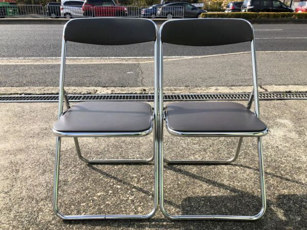 パイプ椅子 2脚セット F 100M  600x450
