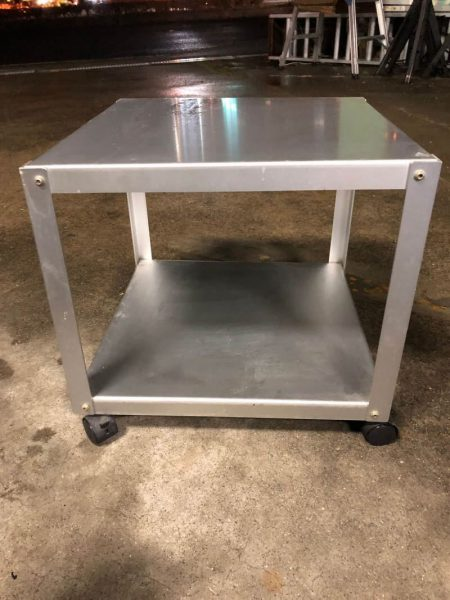 良品計画 アルミローテーブルワゴン 440X440X440 450x600