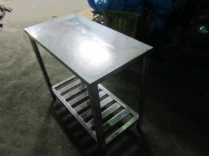 厨房機器 作業台 ステンレス台 900X45X80 300x225