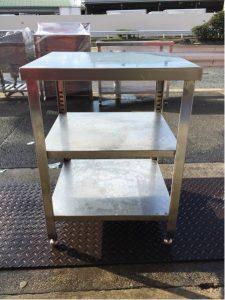 厨房 作業台 ステンレス台 60X55X82 高さ調整可能 3段棚 225x300