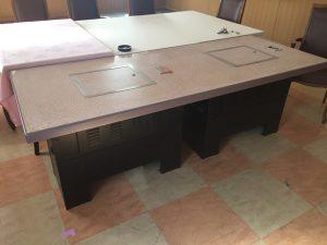 東日本製作所 業務用 焼肉テーブル ダブル HN 90N 200X81X70 300x225