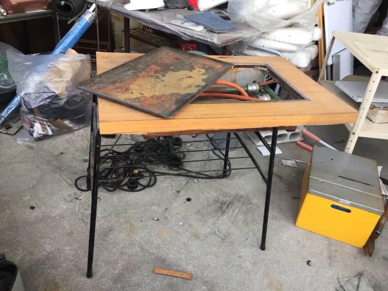 お好み焼き 鉄板卓テーブル プロパンガス 60X90X73