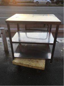 ステンレス台 作業台 厨房機器 2段棚 80x60x86 225x300