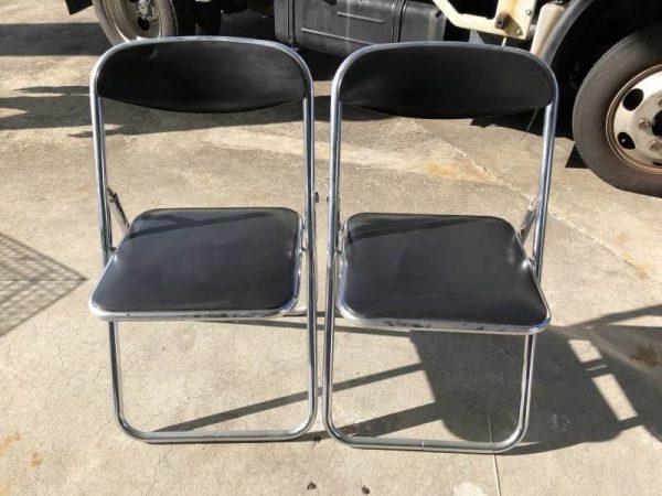 LION 折りたたみ椅子 パイプ椅子 2脚セット 600x450