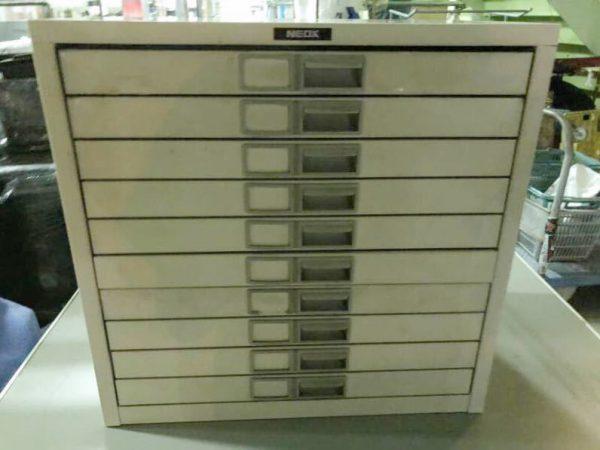 NEOX 書類ケース 書類棚 キャビネット 10段 500X480X335 600x450