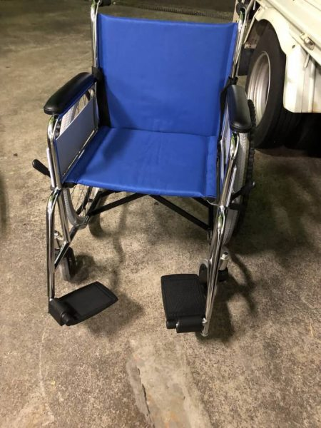 コーナン スチール製 車椅子 自走用 KG19-7235○