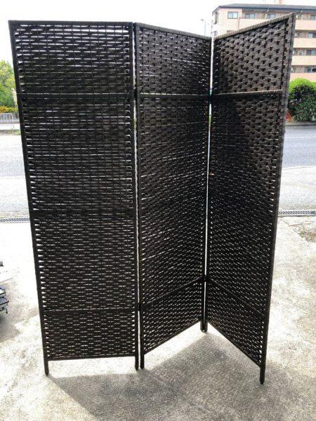 アジアテイスト バリ風 和風テイスト 3枚 パーテーション 170X50 450x600