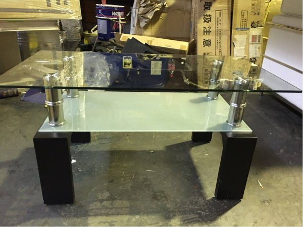 デザイナーズ家具 ガラステーブル センターテーブル 95X50X45