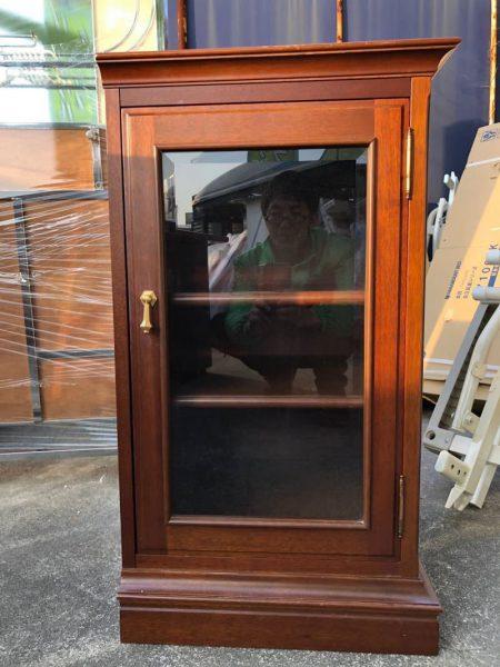 マルニ maruni ガラス飾り棚 本棚 550X450X800
