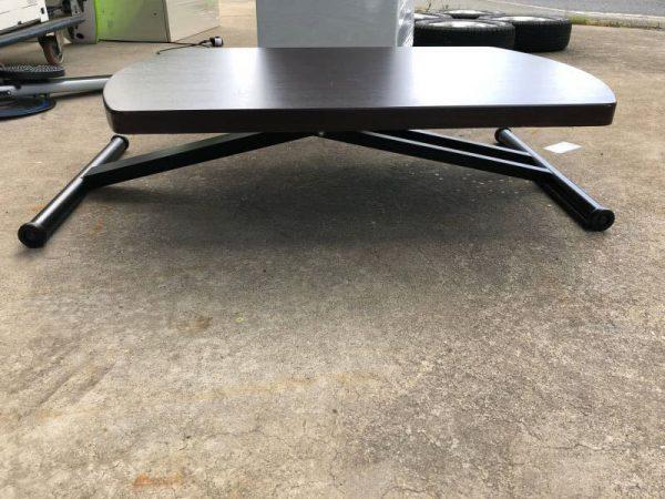 折りたたみ 高さ調整 センターテーブル 900X600X670