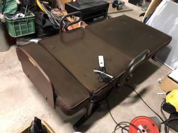 折りたたみ電動リクライニングベッド 簡易ベッド 600x450
