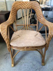 レトロ アンティーク 籐 ラタン 椅子 肘置き付き 225x300