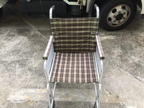 NICK 車椅子 チェック模様 使用感あり 介助 介護用品